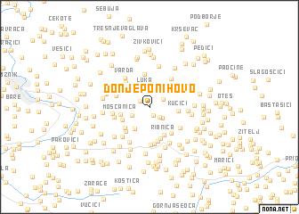 map of Donje Ponihovo
