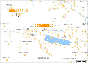 map of Donje Selo