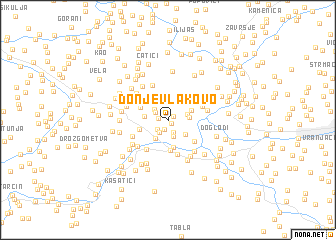 map of Donje Vlakovo