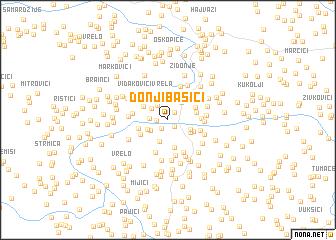 map of Donji Bašići