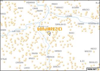 map of Donji Brezići