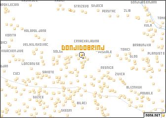 map of Donji Dobrinj