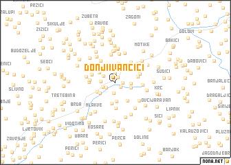 map of Donji Ivančići