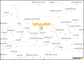 map of Donji Jasik