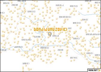 map of Donji Junuzovići