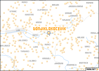 map of Donji Klokočevik