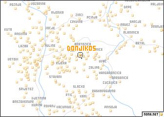 map of Donji Kos