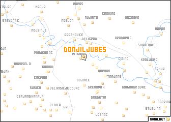 map of Donji Ljubeš