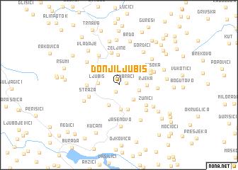 map of Donji Ljubiš