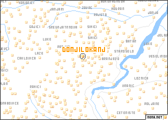 map of Donji Lokanj