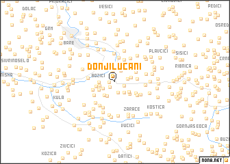 map of Donji Lučani