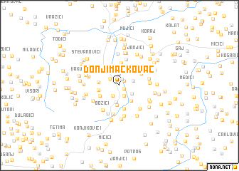 map of Donji Mačkovac