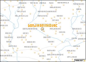 map of Donji Marinkovac