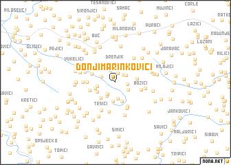 map of Donji Marinkovići