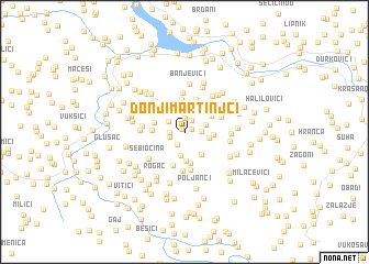 map of Donji Martinjci