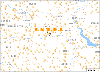 map of Donji Maskalići