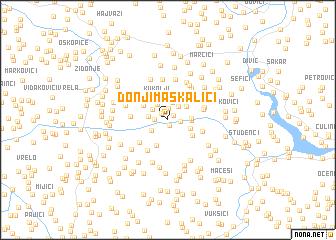 map of Donji Maskalići