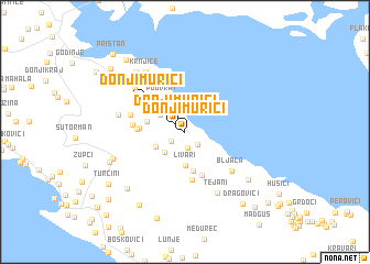 map of Donji Murići