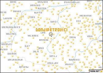 map of Donji Petrovići