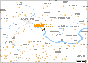 map of Donji Poloj