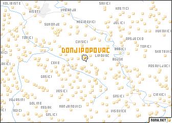 map of Donji Popovac