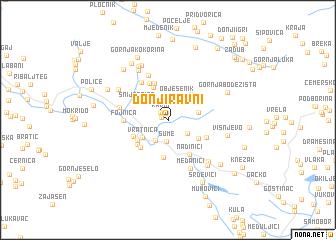 map of Donji Ravni