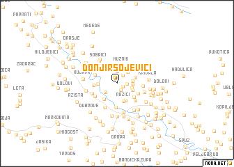 map of Donji Rsojevići
