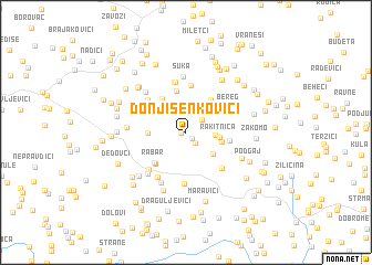 map of Donji Šenkovići