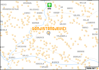 map of Donji Stanojevići