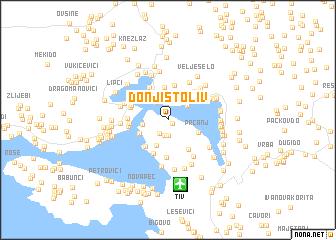 stoliv crna gora mapa Donji Stoliv (Serbia and Montenegro) map   nona.net stoliv crna gora mapa