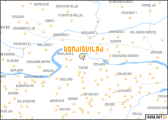 map of Donji Svilaj