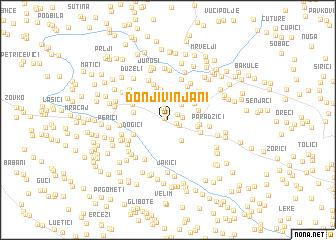 map of Donji Vinjani