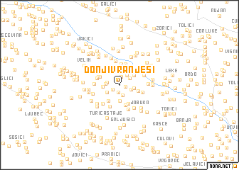 map of Donji Vranješi