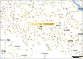 map of Donji Zalukovik