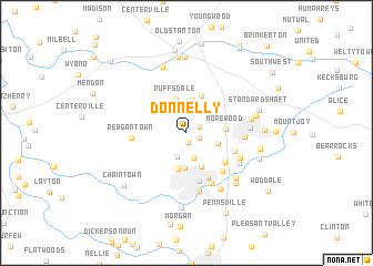 map of Donnelly