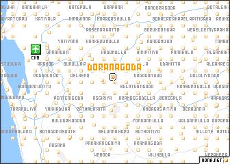 map of Doranagoda