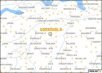 map of Dorānwāla