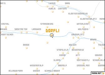 map of Dörfli