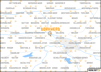 map of Dorkwerd
