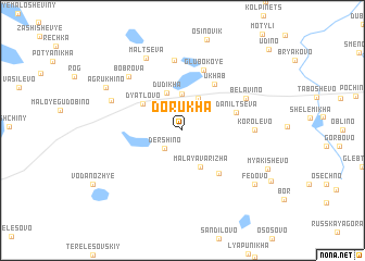 map of Dorukha