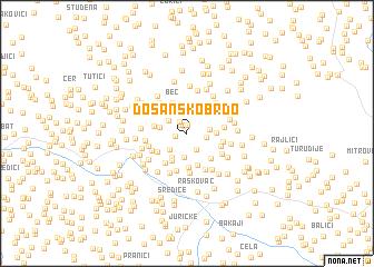 map of Došansko Brdo