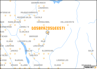 map of Dos Brazos de Estí