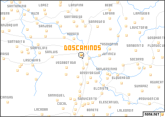 map of Dos Caminos
