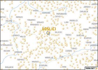 map of Došlići