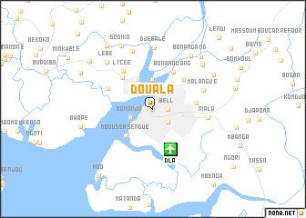 Douala Cameroon map nonanet