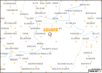 map of Douama