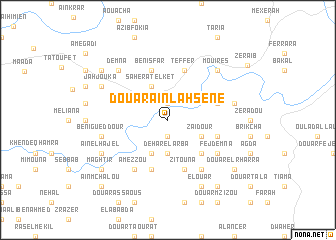 map of Douar Aïn Lahsene