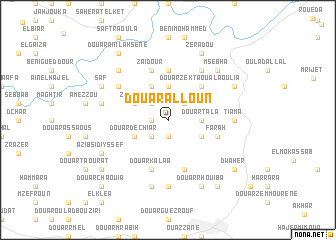map of Douar Alloun