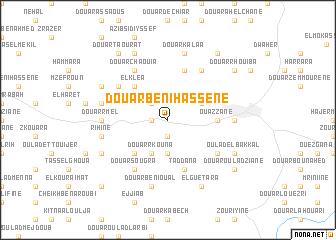 map of Douar Beni Hassene