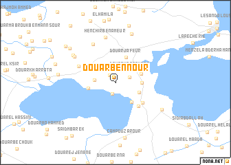 map of Douar Ben Nour